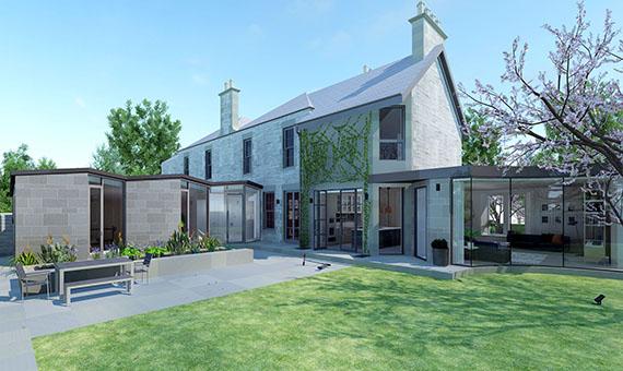 Garden/house in the Grange
